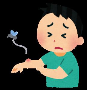 蚊に刺された子供