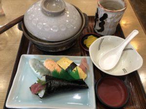バターコーンラーメンお寿司セット