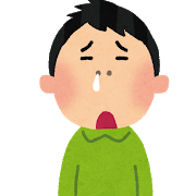 鼻水を垂らす男性