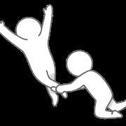 足を引っ張る人の図