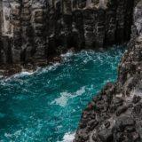 崖からみた海