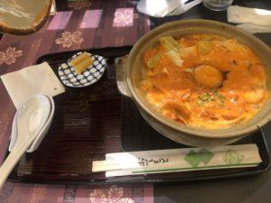 がろ〜の鍋焼きラーメン全貌