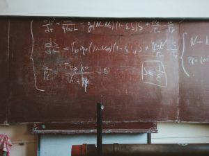 黒板の化学式